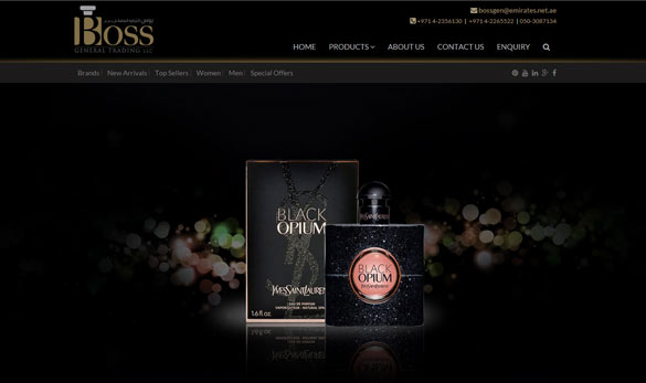 boss perfumes website